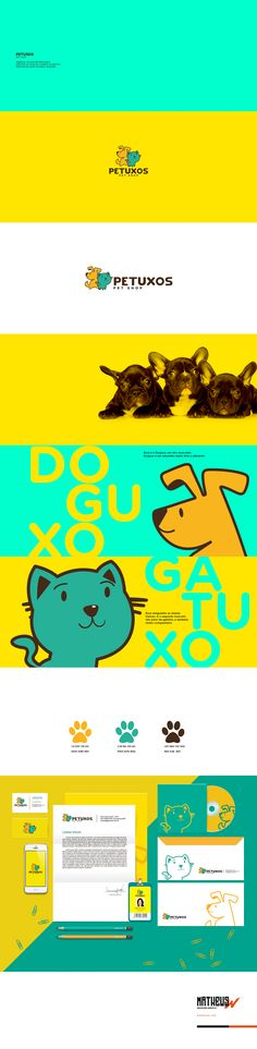Identidade Visual | Petuxos Pet Shop on Behance