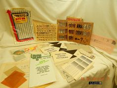 VINTAGE STENCILS & MORE! LETTERS & NUMBERS!1950'S/60'S+! PRE-OWNED/USED! AS IS! #VARIOUS