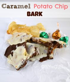 Caramel Potato Chip Bark by www.crazyforcrust.com #bark #candy #caramel