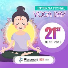 This lets pledge to take up yoga to make a healthy India - Placementindia World Yoga Day, International Yoga Day, Trending Topics, Social Science, Cotton Tee, Tee Shirts, College, India, Healthy