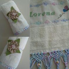 Em tempos de sustentabilidade, uma maneira criativa de embrulhar uma toalha de banho para presente. ✂