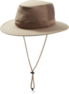 This Outback-style hat shields you from the sun and has mesh vents to keep you cool when things heat up. Available at REI, 100% Satisfaction Guaranteed.