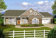 3 Bedroom Ranch With Covered Porches - 20108GA | Architectural Designs - House Plans