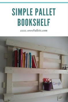 Pallet Bookcase Bookshelf Made With Recycled And Plywood PalletBookcase PalletBookshelf