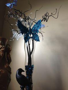 Corpse Bride theme wedding centerpiece!