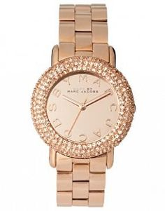 Marc by Marc Rose Gold Diamante Detailed Watch #Jewellery-&-Watches #Rose-gold