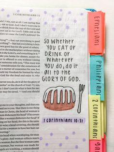 Bible Study Notebook, Bible Study Journal, Bible Encouragement, Bible Verses Quotes, Christian Motivation, Christian Quotes, Cute Bibles, Bibel Journal, Bible Doodling