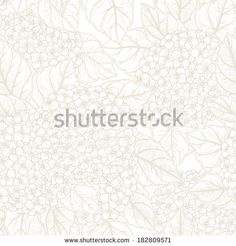 Vector seamless floral pattern with flowers hydrangeas.  - stock vector