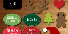 Free Printable Christmas Photo Booth Props and Signs from Elegance and Enchantment | Elegance & Enchantment