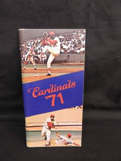 1971 MLB MAJOR LEAGUE BASEBALL ST LOUIS CARDINALES MEDIA GUIDE YEARBOOK SPORTS