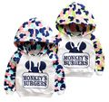 Free Shipping 2015 casual cotton boys girls mickey sport hoodies sweatshirt children clothes baby kids coat jacket clothing