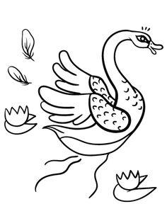 printable swan coloring page free pdf download at httpcoloringcafecom