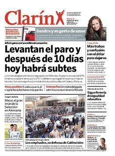 Levantan el paro y después de 10 días hoy habrá subtes. Más información: http://www.clarin.com/capital_federal/final-conflicto-record_0_755324545.html