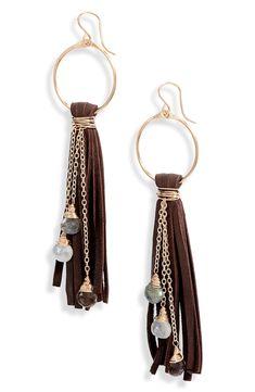Diy Leather Earrings, Fringe Earrings, Bead Earrings, Earrings Handmade, Diy Boho Earrings, Diy Leather Tassel, Handmade Leather Jewelry, Leather Jewelry Tutorials, Leather Jewelry Making