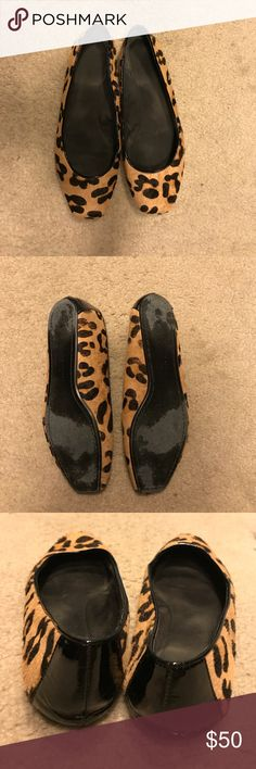 Kate Spade Leopard Flats Kate Spade Leopard Print Flats. Worn only a handful of times. Size 8. Made with calf hair. kate spade Shoes Flats & Loafers
