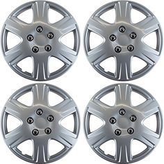 """Hubcaps for Toyota Corolla 2005-2008 Set of 4 Pack 15"""" Inch Silver , OEM Genuine Factory Replacement - Easy Snap On - Aftermarket Wheel Covers with fast, FREE Shipping    #carscampus #sale #shop #cars #car #campus"""
