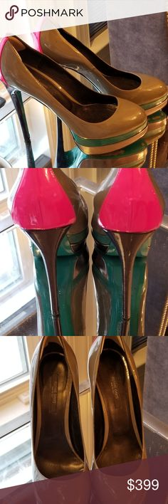 Ruthie Davis Pumps MUST HAVE gently worn multi-colored stilettos!!!  Surprise pop of color as you walk away!  They will take a second look! Ruthie Davis Shoes Heels