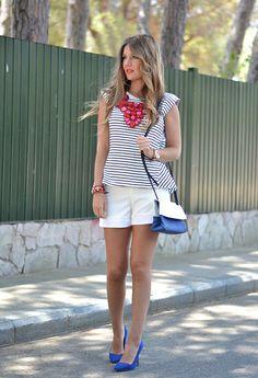 Sheinside T-ShirtsComprar onlineComprar online, Zara  Shorts and Chic Sympathique BolsasComprar onlineComprar online