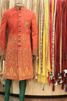 #Asopalav #Ahmedabad #Wedding #Fashion Indian Men Fashion, India Fashion, Men's Fashion, Indian Male, Indian Wear, Groom Wear, Groom Dress, Pathani Kurta, Achkan