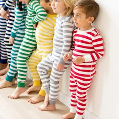 Long John Pajamas In Pure Organic Cotton by Hanna Andersson in Bold Stripes