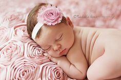 Simple, pretty newborn headband