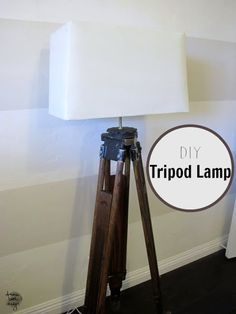 Diy tripod floor lamp tripod floor lamp and diy tripod how to make a diy tripod lamp solutioingenieria Choice Image