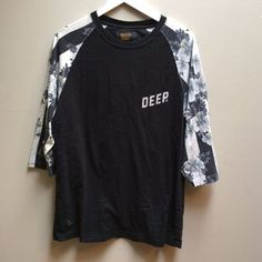 10 DEEP Crew Neck Casual Pullover Shirt 3/4 sleeve Floral Size Large Streetwear  | eBay
