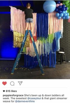 Streamer Decoration Ideas New Balloonfringe Background Streamer Decorations, Streamers, Birthday Decorations, Birthday Party Themes, Streamer Backdrop, Balloon Garland, Balloons, Deco Ballon, Decoration Vitrine
