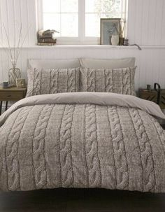 Nothing cozier than a sweater...even one for a bed