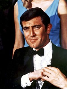 "The first James Bond Movie I ever saw was ""On Her Majesty's Secret Service"" so I have always thought George Lazenby was a perfect fit. First James Bond Movie, James Bond Movie Posters, James Bond Movies, Movie Talk, I Movie, Service Secret, George Lazenby, Bond Series, James Bond Style"