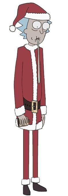 Rick and Morty x Santa Rick