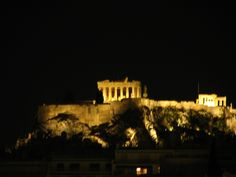 Acropolis at night from the Hilton, Athens