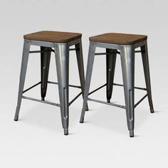 Espen Chestnut Black Wood Metal Adjustable Stool Counter