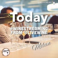 From 12.00 to 17.00 (GMT+1.00) We'll stream from LIVE WINE in Milan: The biggest italian Wine event for #naturalwine and #biological wine // @livewinemilano . We will interview a lot of artigianal wine producers and we will analyze the wines togheter!! Don't miss it!!! #livewine #milan #wineevents #winestreaming #wine #winelovers #wineenthusiast #wein #biodinamic #vino #amore #diretta #eventi #vinho #personalsommelier  #amateurwein  #vino  #winecellar #cantina  #madeinitaly #cantinasocial…