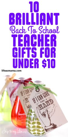 10 Brilliant Back To School Teacher Gifts For Under $10
