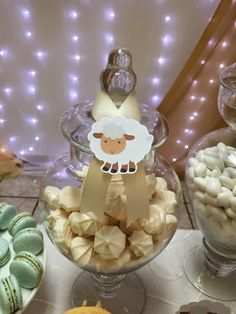 Little Lamb Themed Boys Baby Shower Candy Food Ideas