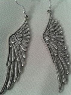 Pendientes colgantes - pendiente alas - hecho a mano por kerkus en DaWanda …