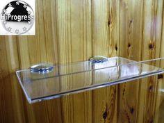 Clear Acrylic Plexi-Glass Bathroom Kitchen Wall Floating Shelf Shelves With Edge