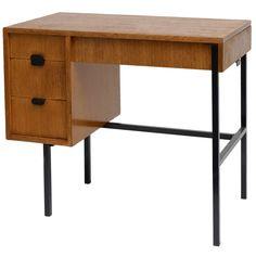 Oak and Enameled Metal 'Multitable' Desk for Multiplex, Writing Desk, Vintage Table, Cool Furniture, Childhood Memories, Office Desk, Tables, Antiques, Metal, Modern