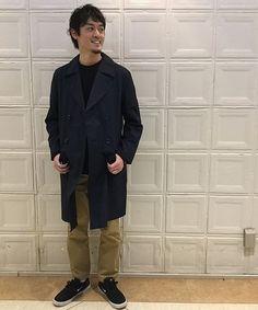 NANAMICA スタイリングサンプル  スプリングコートの代名詞、NANAMICAが入荷!!  今回はダブルのタイプでスタイリングを組んでみました。  細身のチノパンで綺麗めに着るのがオススメです!!