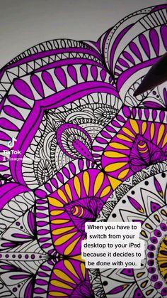 Pattern Illustration, Illustration Artists, Digital Illustration, Digital Revolution, Mandala Coloring Pages, Digital Art Tutorial, Mandala Drawing, How To Draw Hands, Graphic Design