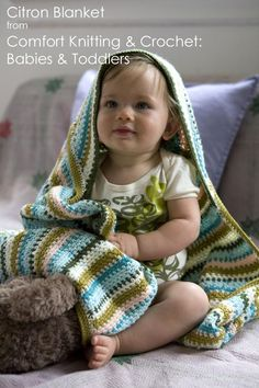 Love, love, love the new Comfort Knitting & Crochet: Babies & Toddlers book from Norah Gaughan and the Berroco Design Team. So many cute patterns using Comfort and Vintage yarns, but it's this hooded crochet blanket that is going to the top of the queue.