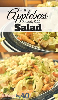 This Applebees Knock Off Salad will knock your socks off with its tangy, zesty, filling flavor! http://www.retiredby40blog.com/recipe/sunday-funday-the-applebees-knock-off-salad/