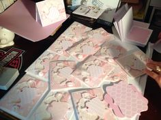 100 Baby Shower Cards I made....A BABY IS BREWING was the theme....enjoy wow.stampinribbons.blogspot.com