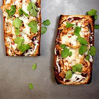 BBQ Chicken French Bread Pizza!