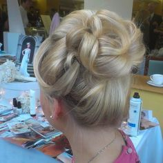 soft bridal updo look