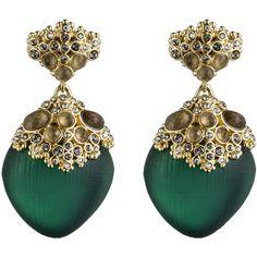 Teatro Moderne Gold Chandelier Post Earring ($255) ❤ liked on Polyvore
