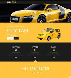Шаблон CITY TAXI для компании такси