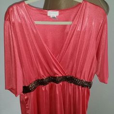 Pretty Feminine Top Size 1X Maurices Beautiful top comfortable material,  pretty color, Grecian detail at waist size 1X Maurices Tops Camisoles