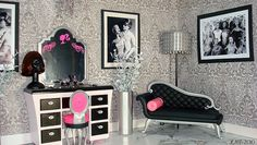 Barbie Vanity and Chaise Lounge Makeover